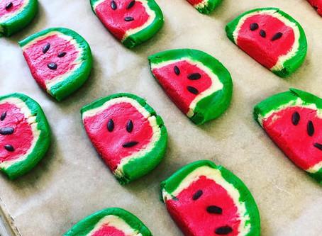 Vegan Watermelon Cookies