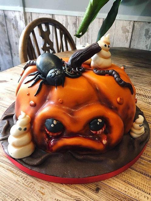 Vegan Pumpkin Halloween Cake