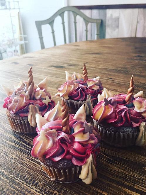 Box of 6 Vegan Unicorn Cupcakes