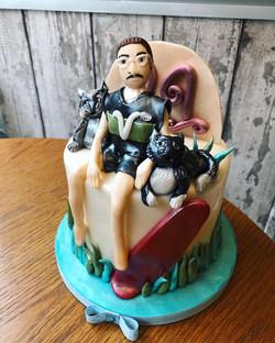 vegan runner cake