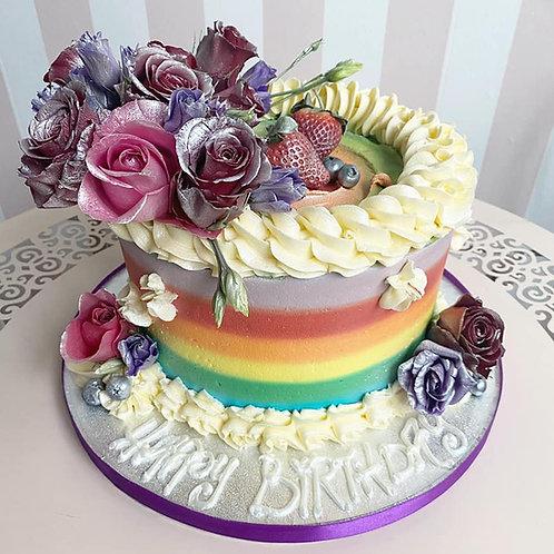Rainbow Flower Cake