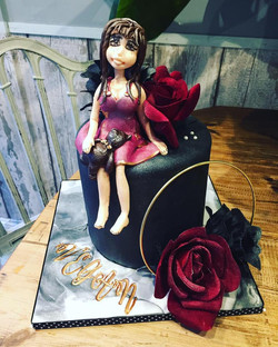 vegan doll cake