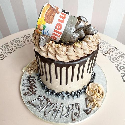Vegan No-tella Drip Cake
