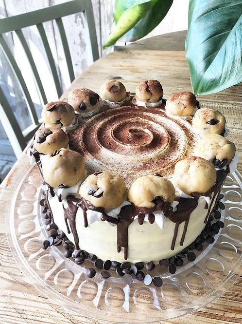 Vegan Cookie Dough Cake