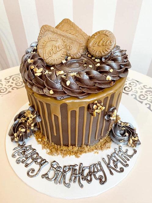 Vegan Biscoff & Hazelnut Cake