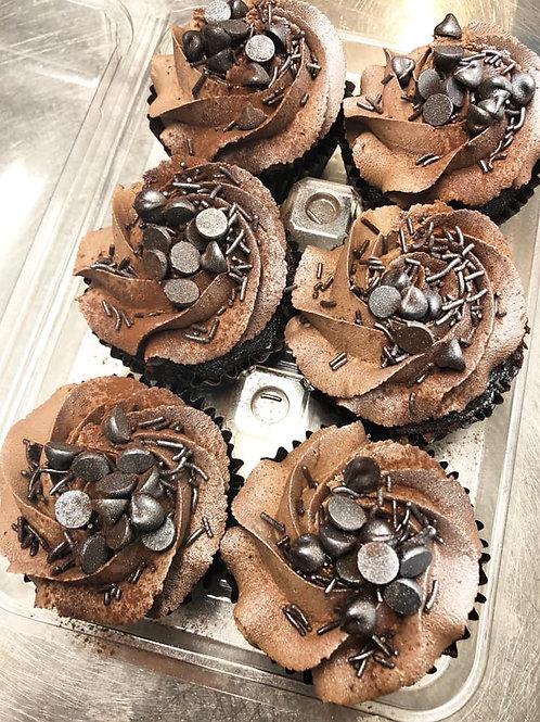 Box of 6 Vegan Chocolate Cupcakes