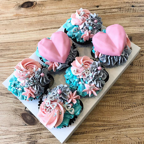 Box of 6 Pastel Dream Cupcakes