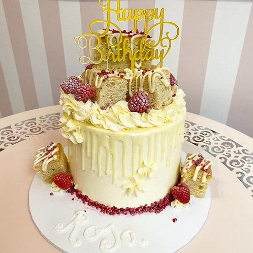 Vegan Blondie & Berries Drip Cake