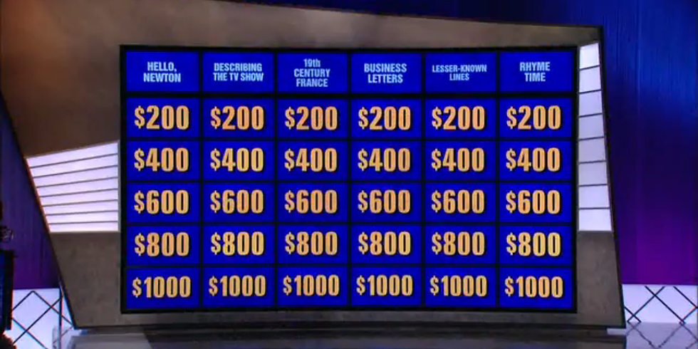 Jeopardy Style Trivia on FB Live-7pm PAC