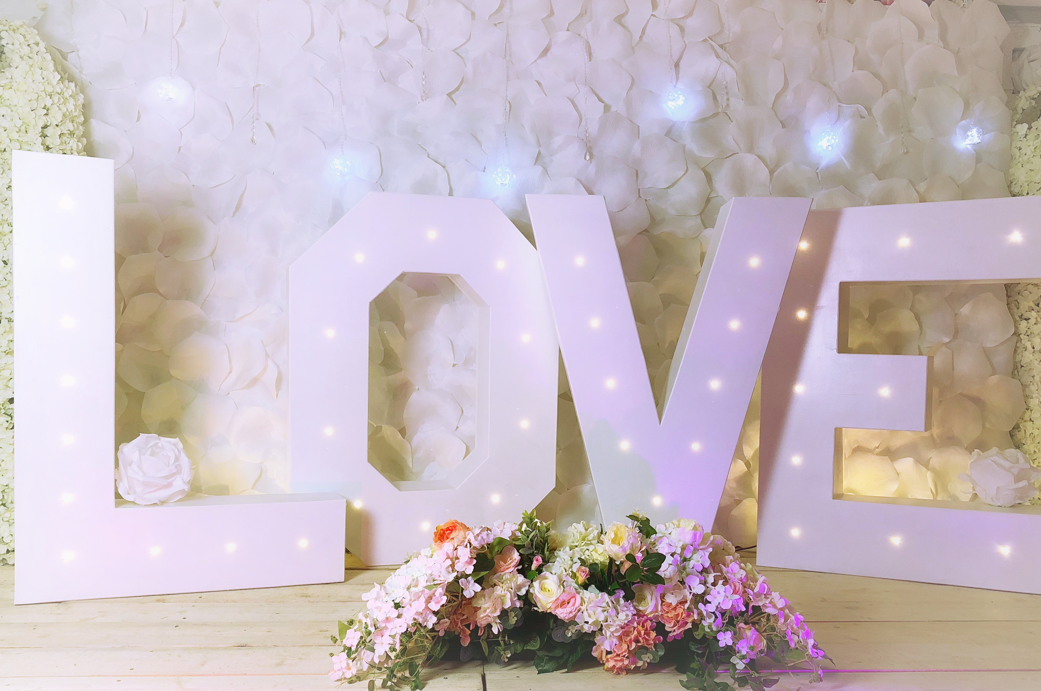 love letters wedding decoration