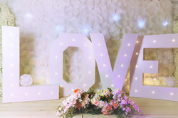 love letters wedding decoration