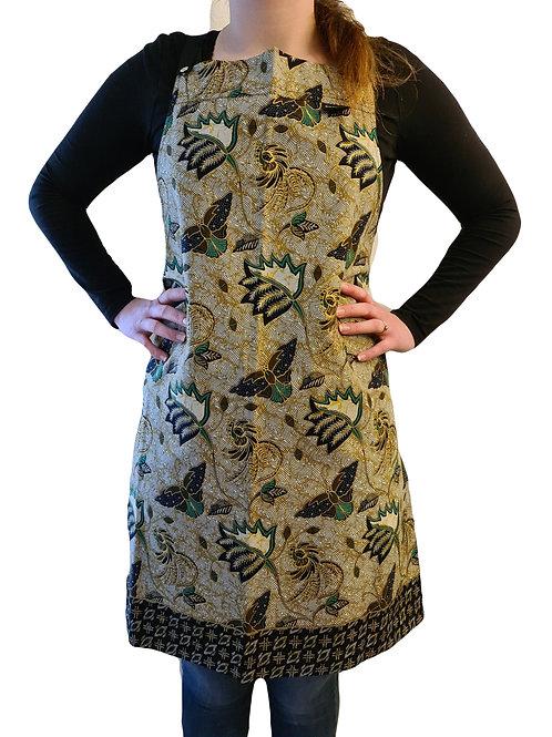 Batikprint Schort (Zwart/Groen)