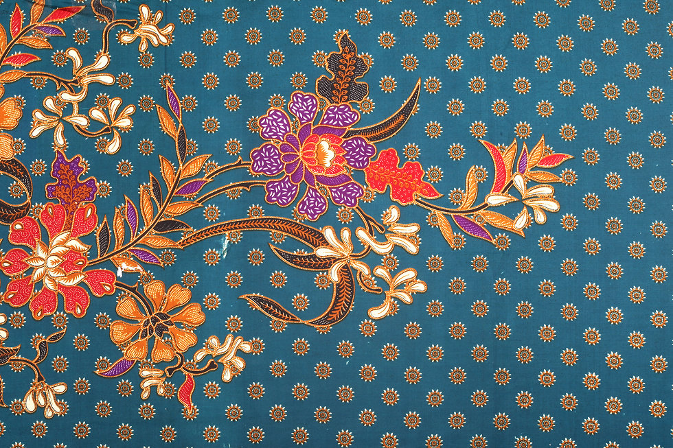The beautiful and colourful of art Malaysian and Indonesian Batik Pattern.jpg