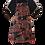 Thumbnail: Handgeschilderd Batik Schort (blauw/rood)