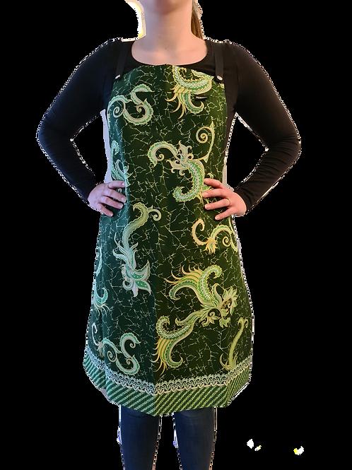 Batikprint Schort (Groen)