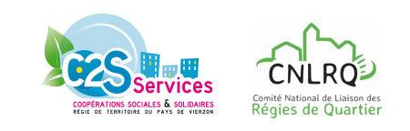 logo c2s cnlrq régie de quartier