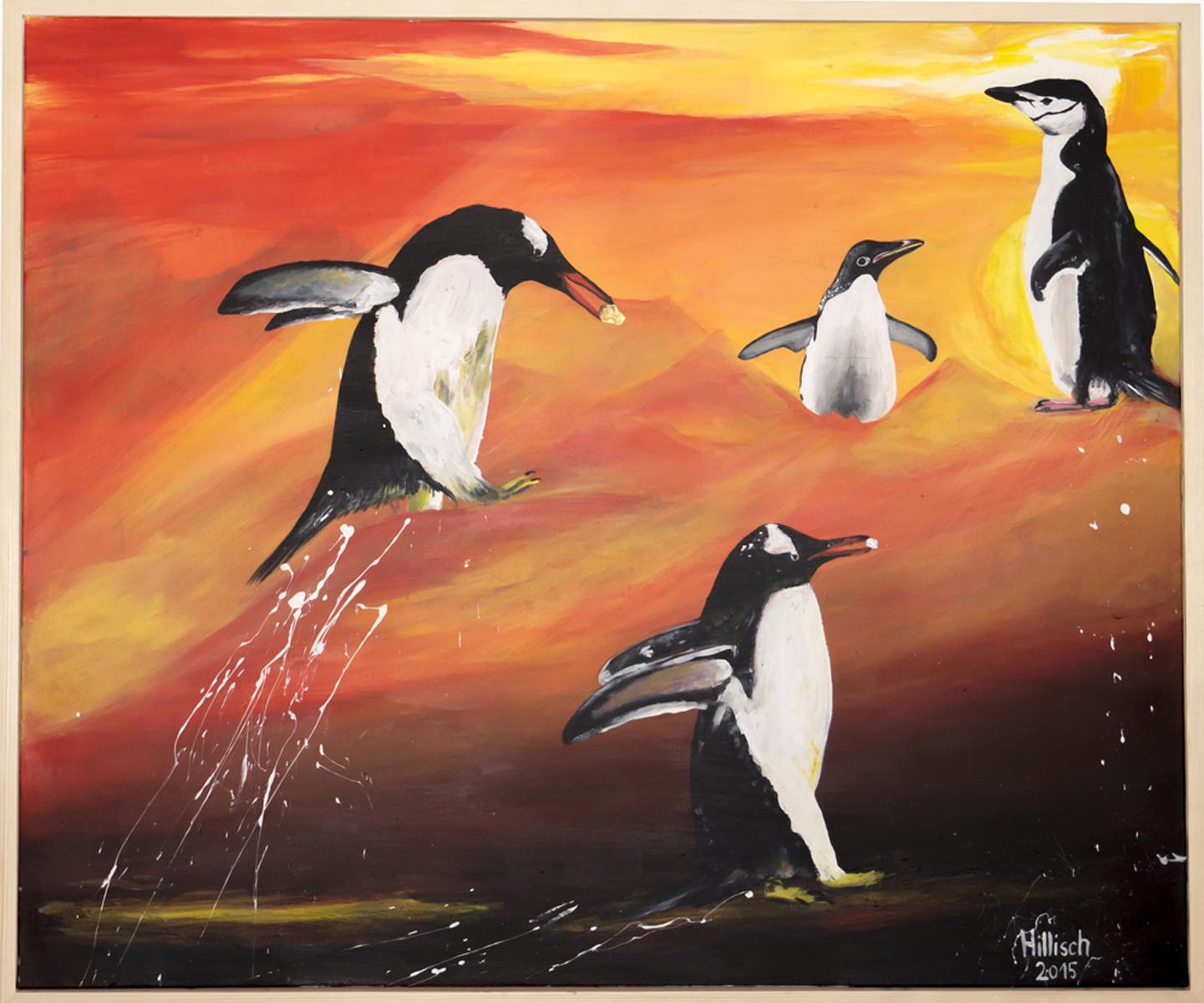 Pinguine in Nepal 120x100