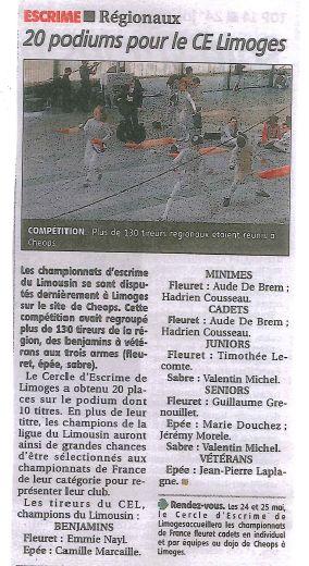 Chpts de ligue - Limoges
