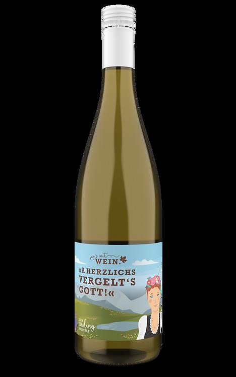 """""""Vergelts Gott"""" - Weißwein (Riesling feinherb) im 2er Karton"""