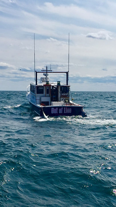 F/v Out of Line towing 2 bluefin tuna with savage charters