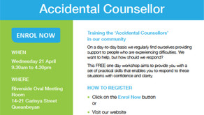 """Free training """"Accidental Counsellors"""" in our community"""