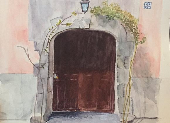 La porte d'Auvers-sur-Oise