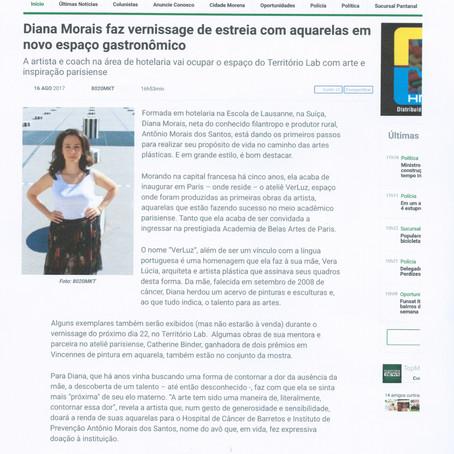 Diana Morais faz vernissage de estreia com aquarelas em novo espaço gastrônomico