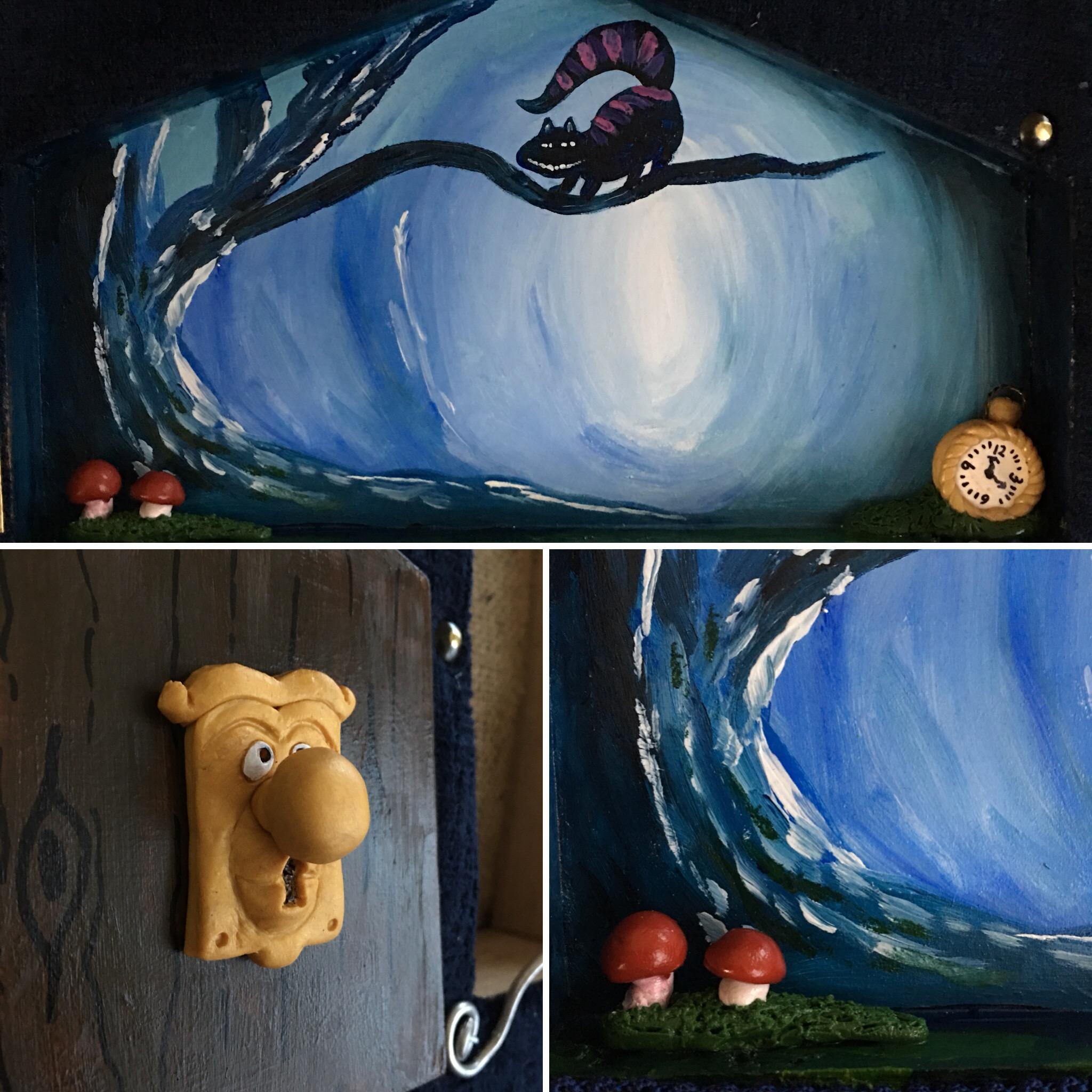 Wonderland inside the door