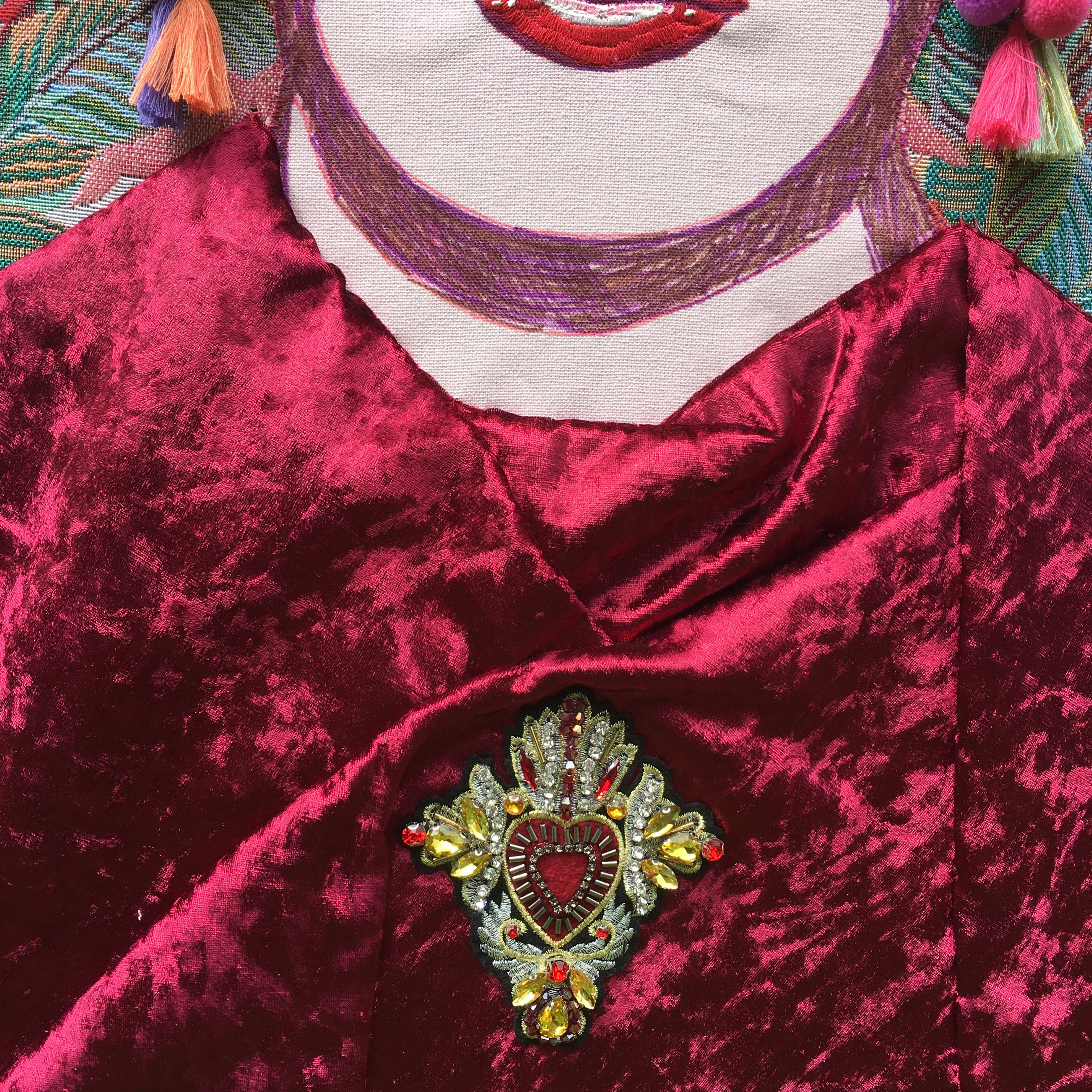 Frida Kahlo inspired wingback