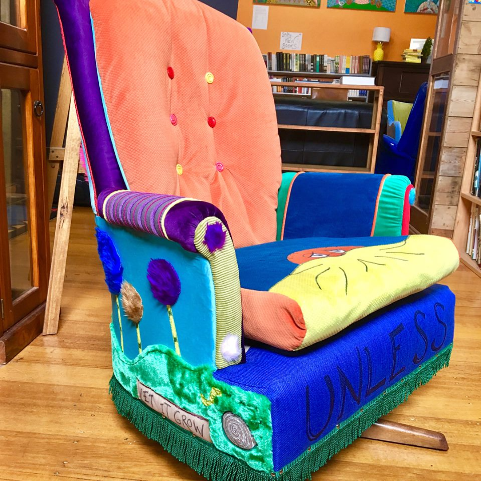 The Lorax inspired Swivel Rocker!