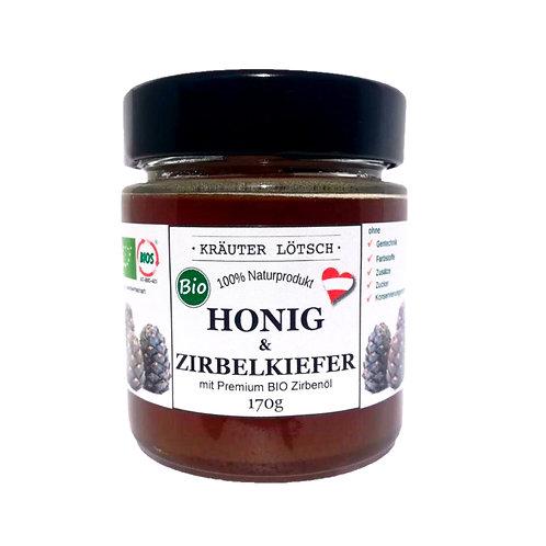 HÄNDLER 10+2 gratis Honig mit Zirbe - Premium BIO 170g AKTION