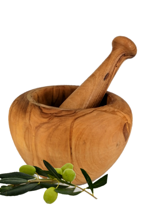 Olivenholz Mörser XL