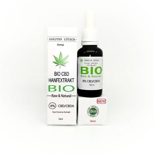 Hanf Aroma Extrakt 8% CBD/CBDA Raw & Natural 30ml