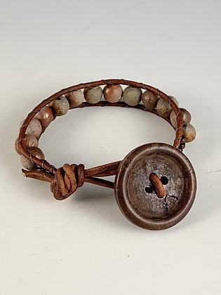 Big Button Woven Bracelet