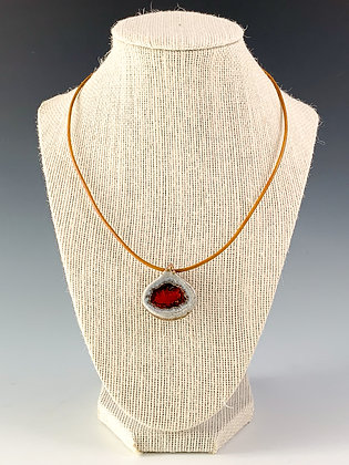 Glass Geode Necklace 16