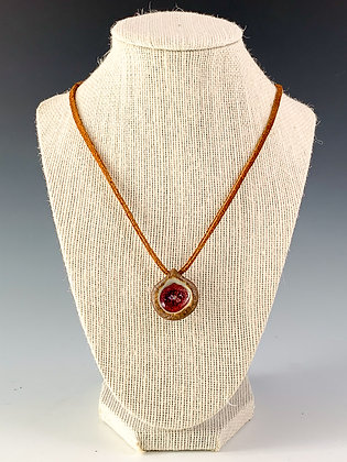 Glass Geode Necklace 19