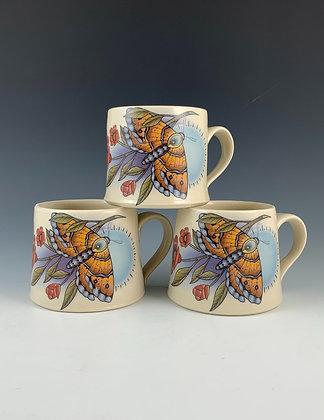 Orange Moth Mug