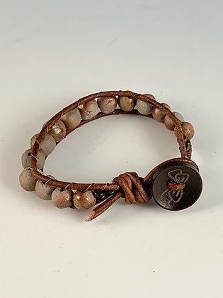 Bow Button Woven Bracelet