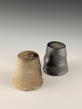 Raw salt and pepper shakers