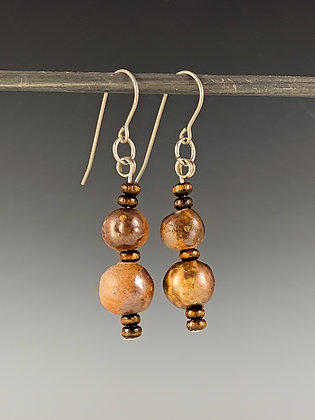 Stoneware Suspension Earrings
