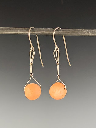 Titanium Bmix Bead-drop Earrings