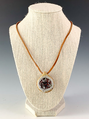 Glass Geode Necklace 20