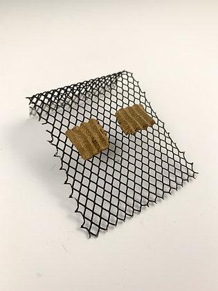 Small Corrugated Stud Earrings