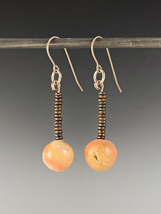 Bmix & Copper Rod-Drop Earrings