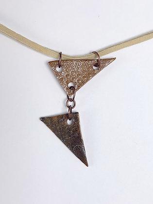 Double Triangle Pendant