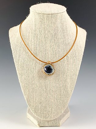Glass Geode Necklace 12