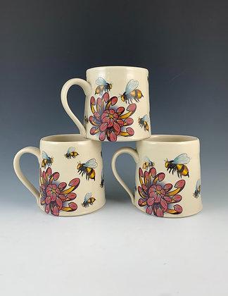 Floral Bee Mug