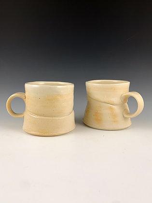 Pair of Twice-fired Folded Mugs #1