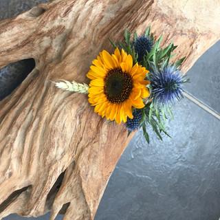 Sunflower & Thistle Buttonhole
