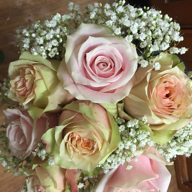 Bridal Bouquet - Rose & Gypsophila